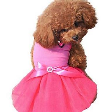 Pies Suknie Ubrania dla psów Urocza Codzienne Księżniczka Czerwony