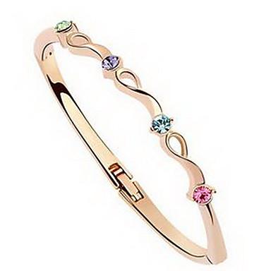 للمرأة أساور مجوهرات الصداقة موضة كريستال سبيكة Geometric Shape مجوهرات من أجل عيد ميلاد هدية الفالنتين