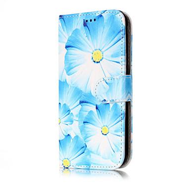 غطاء من أجل Samsung Galaxy J7 (2016) J5 (2016) محفظة حامل البطاقات مع حامل قلب نموذج كامل الجسم زهور قاسي جلد اصطناعي إلى J7 (2016) J7 J5