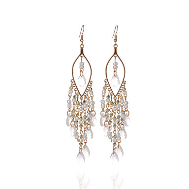 Damskie Kolczyki wiszące Kryształ Frędzle Osobiste euroamerykańskiej Kryształ Żywica Stop Biżuteria Biżuteria Na Ślub Impreza Codzienny