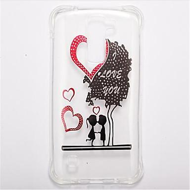 tok Για LG Ανθεκτική σε πτώσεις Διαφανής Με σχέδια Πίσω Κάλυμμα Καρδιά Μαλακή TPU για LG K10 LG K8 LG K7