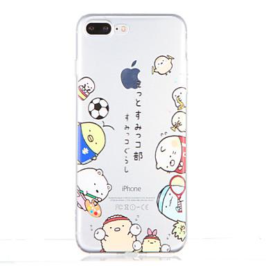 إلى شفاف نموذج غطاء غطاء خلفي غطاء كرتون ناعم TPU إلى Apple فون 7 زائد فون 7 iPhone 6s Plus iPhone 6 Plus iPhone 6s أيفون 6