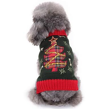 Γάτες Σκυλιά Πουλόβερ Ρούχα για σκύλους Χειμώνας Άνθινο / Βοτανικό Cute Μοντέρνα Χριστούγεννα Γκρίζο