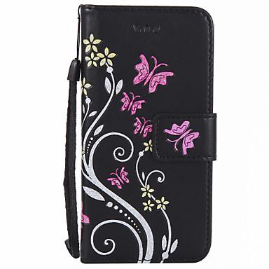 tok Για Apple iPhone 7 Plus iPhone 7 Θήκη καρτών Πορτοφόλι Πλήρης Θήκη Λουλούδι Σκληρή PU δέρμα για iPhone 7 Plus iPhone 7 iPhone 6s Plus