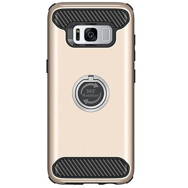 Kılıf Na Samsung Galaxy S8 Plus S8 Odporne na wstrząsy Z podpórką Czarne etui Jendolity kolor Twarde PC na S8 Plus S8 S7 edge S7