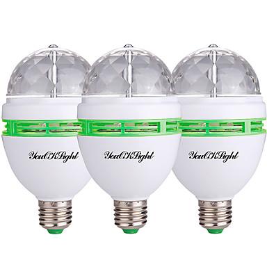 3pcs 3W 400lm Spoturi LED 3 LED-uri de margele LED Putere Mare Decorativ RGB 85-265V