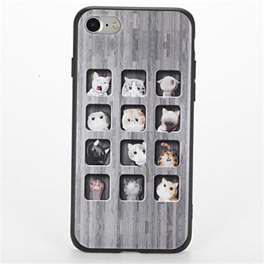 Etui Käyttötarkoitus Apple iPhone 7 Plus iPhone 7 Kuvio Takakuori Kissa Pehmeä TPU varten iPhone 7 Plus iPhone 7 iPhone 6s Plus iPhone 6s