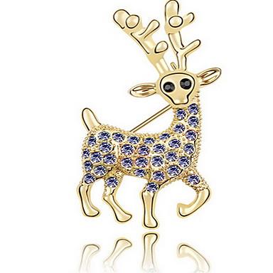 Kadın Broşlar Mücevher Eşsiz Tasarım Hayvan Tasarımı Kişiselleştirilmiş Euramerican Kristal alaşım Animal Shape Mücevher Mücevher