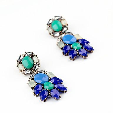 Cercei Stud Cristal Design Circular La modă Personalizat Euramerican Albastru Bijuterii Pentru Nuntă Petrecere Zi de Naștere 1 pereche