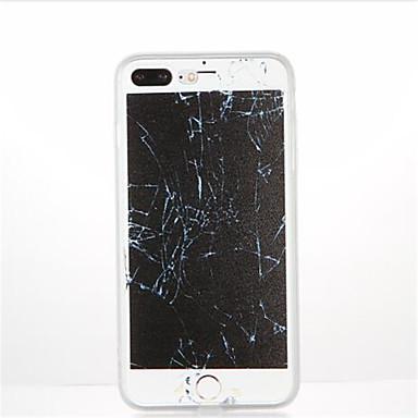 Pouzdro Uyumluluk Apple iPhone 7 Plus iPhone 7 Temalı Arka Kapak Mermer Yumuşak TPU için iPhone 7 Plus iPhone 7 iPhone 6s Plus iPhone 6s