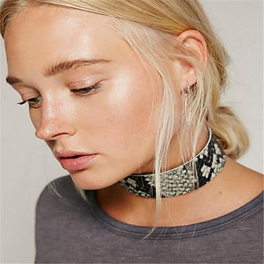 Damskie Pojedynczy Strand Spersonalizowane Modny euroamerykańskiej Naszyjniki choker Biżuteria Skórzany Naszyjniki choker , Codzienny