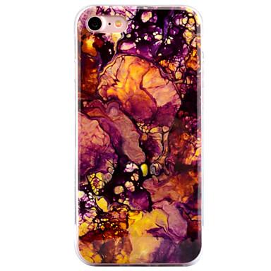 Käyttötarkoitus iPhone 8 iPhone 8 Plus kotelot kuoret IMD Kuvio Takakuori Etui Marble Pehmeä TPU varten Apple iPhone 8 Plus iPhone 8