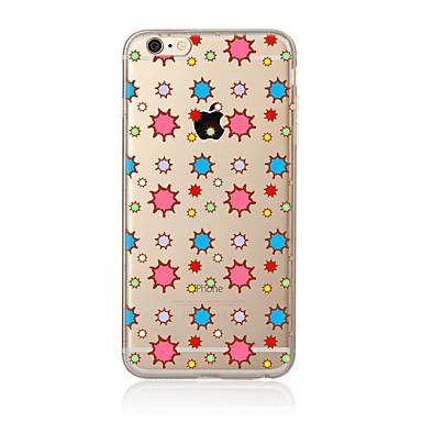 Varten Läpinäkyvä Kuvio Etui Takakuori Etui Laattakuvio Pehmeä TPU varten AppleiPhone 7 Plus iPhone 7 iPhone 6s Plus iPhone 6 Plus iPhone