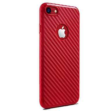 tok Για iPhone 7 iPhone 7 Plus Apple iPhone X iPhone X iPhone 8 Ανθεκτική σε πτώσεις Πίσω Κάλυμμα Συμπαγές Χρώμα Μαλακή Σιλικόνη για