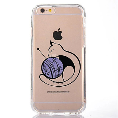 غطاء من أجل iPhone 7 Plus iPhone 7 iPhone 6s Plus أيفون 6بلس iPhone 6s ايفون 6 أيفون 5 أيفون 5C أيفون 4/4S Apple شفاف نموذج غطاء خلفي قطة