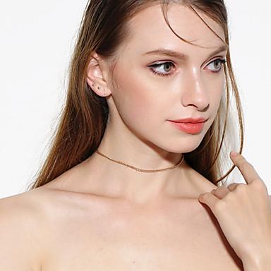 Kadın's Tek Dizi Kişiselleştirilmiş Temel Moda Euramerican minimalist tarzı Gerdanlıklar Mücevher alaşım Gerdanlıklar , Günlük Spor