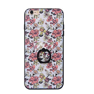Για Βάση δαχτυλιδιών tok Πίσω Κάλυμμα tok Λουλούδι Σκληρή PC για AppleiPhone 7 Plus iPhone 7 iPhone 6s Plus iPhone 6 Plus iPhone 6s