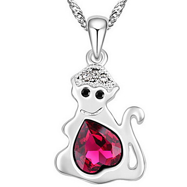 Damskie Naszyjniki z wisiorkami Kryształ Animal Shape Zwierzęta Biżuteria Na Casual