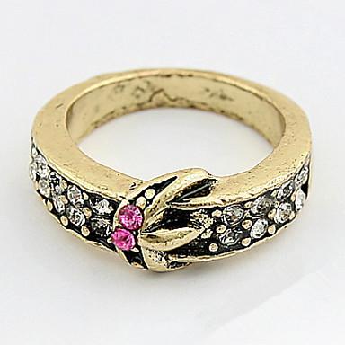 Heren Dames Bandringen Ring Bergkristal Gepersonaliseerde Uniek ontwerp Logostijl Klassiek Vintage Bohémien Standaard Hart Vriendschap