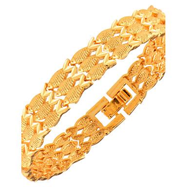 Miesten Naisten Ranneketjut Korut Muoti Kupari Gold Plated Geometric Shape Animal Korut Joululahjat Party Erikoistilaisuus Syntymäpäivä