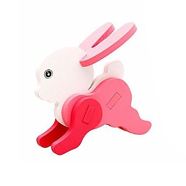 قطع تركيب3D ألعاب الألغاز النماذج الخشبية Rabbit لهو خشب كلاسيكي