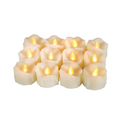 Zestaw 12 premii bez ogniowych wotywnych świeczek z kapiącą z timerem bateryjnie obsługiwane świece długi żywotność baterii 200 godzin w