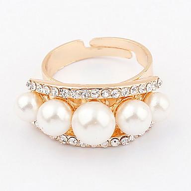 Bărbați Pentru femei Inel Band Ring Ștras Perle Personalizat Design Unic Stil Logo Clasic Vintage Boem De Bază Prietenie Englezesc SUA
