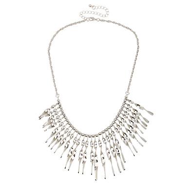 Damskie Geometric Shape Unikalny Wiszący Kutas Multi-sposoby Wear minimalistyczny styl Oświadczenie Naszyjniki Biżuteria Chrom