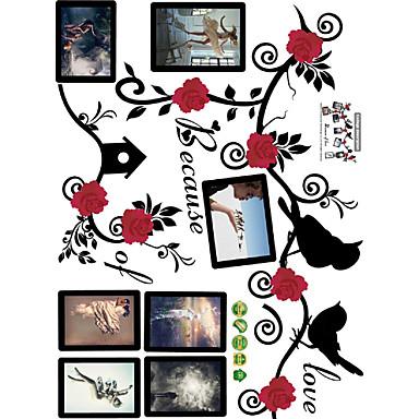 Maisema Kukkakuviot 3D Wall Tarrat Lentokone-seinätarrat 3D-seinätarrat Koriste-seinätarrat Häätarrat, Vinyyli Paperi Kodinsisustus