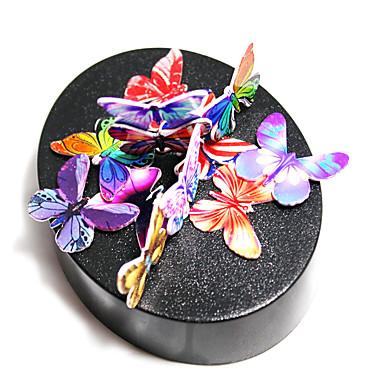 Magneettinen veistos Magneettilelut Metalliset palapelit Opetuslelut Lievittää stressiä 1 Pieces Lelut Magneetti DIY Pyöreät Butterfly