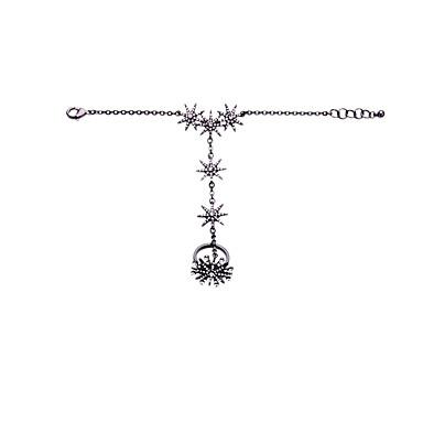 Damskie Bransoletka z pierścionkiem Biżuteria Przyjaźń luksusowa biżuteria Stop Star Shape Silver Biżuteria Na Impreza Urodziny 1szt