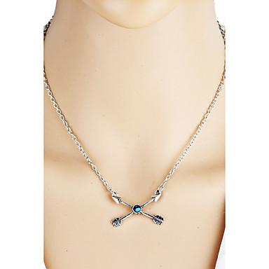 Dames Gepersonaliseerde Uniek ontwerp Hangende stijl Bohémien Bikini Modieus Opvallende sieraden Verklaring Kettingen Turkoois Legering