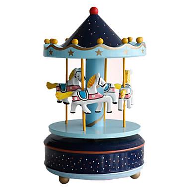 Müzik Kutusu Oyuncaklar Tatlı Kendin-Yap Parti Dairesel At Atlıkarınca Merry Go Round Plastik Parçalar Unisex Doğum Dünü Hediye