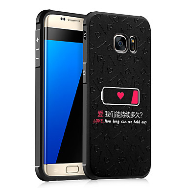 Für samsung galaxy s7 s6 case cover stoßfestes geprägtes muster back cover wort phrase soft tpu