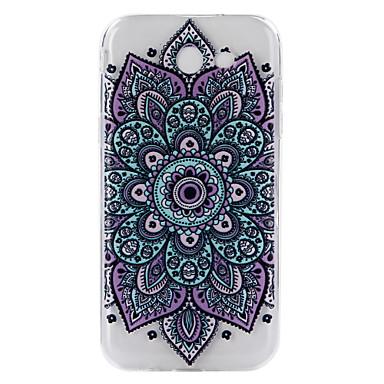 hoesje Voor Samsung Galaxy J7 Prime J5 Prime Transparant Reliëfopdruk Patroon Achterkantje Mandala Zacht TPU voor J7 (2016) J7 Prime J5