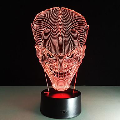 1 Stück Nächtliche Beleuchtung Fernbedienungskontrolle Farbwechsel Größe S Nachtsicht Fernbedienung 7-Color Acryl