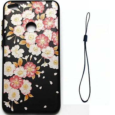 hoesje Voor Huawei P9 Huawei P9 Lite Huawei P8 Huawei Beplating Patroon Achterkant Bloem Zacht TPU voor P10 Plus P10 Lite P10 Huawei P9
