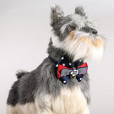 Câine Gulere Ajustabile / Retractabil Sonerie Buline Material Textil Albastru
