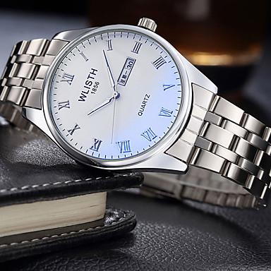 Heren Modieus horloge Kwarts Legering Band Vrijetijdsschoenen Zilver