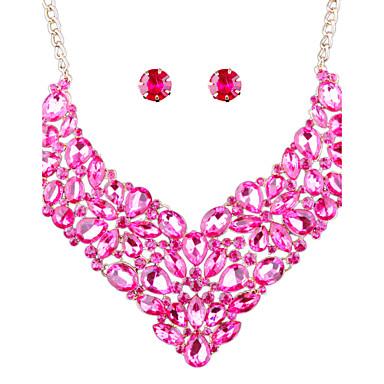Pentru femei Seturi de bijuterii Ștras Modă Euramerican Nuntă Petrecere Zilnic Casual Aliaj Altele Σκουλαρίκια Coliere