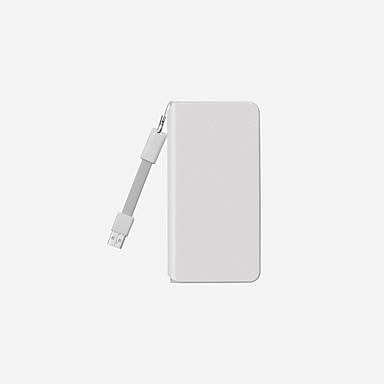 10000mAh Bank-externer Batterie 5 Akku-Ladegerät mit Kabel QC 3.0 LED