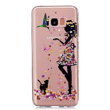 Недорогие Чехлы и кейсы для Galaxy S4 Mini-Кейс для Назначение SSamsung Galaxy S8 Plus / S8 / S5 Mini IMD / Прозрачный / С узором Кейс на заднюю панель Соблазнительная девушка Мягкий ТПУ