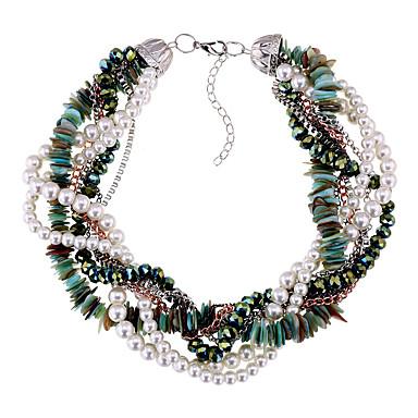 Kadın's katmanlı Kolyeler İmitasyon İnci Çok güzel Kişiselleştirilmiş sevimli Stil Euramerican Mücevher Için Düğün Parti 1pc