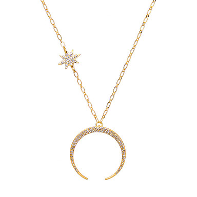 Pentru femei Coliere cu Pandativ MOON Design Unic Auriu Bijuterii Pentru Zilnic 1 buc