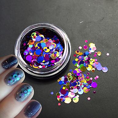 1szt Lśniące Nail Glitter Laserowy holograficzny Cekiny Wielokolorowy Nail Art Design