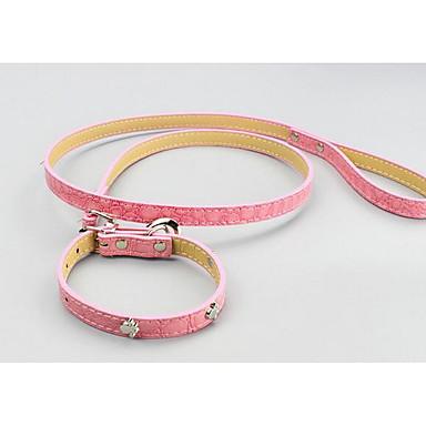 Kat Hond Kraag Veiligheid Bel Training Effen Nylon Oranje Rood Roze