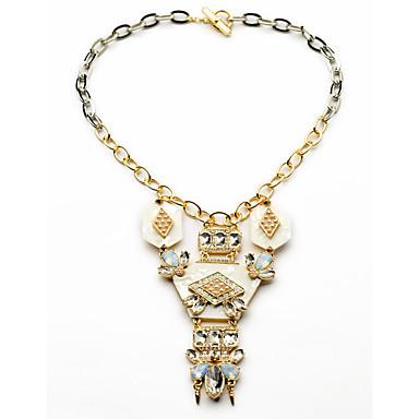 Damskie Pasemka Naszyjniki Geometric Shape Unikalny euroamerykańskiej Gold Biżuteria Na Impreza Prezenty bożonarodzeniowe 1szt
