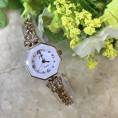 Pentru femei Simulat Diamant Ceas Ceas La Modă Ceas de Mână Ceas Brățară Chineză Quartz imitație de diamant / Aliaj Bandă Casual Roz auriu