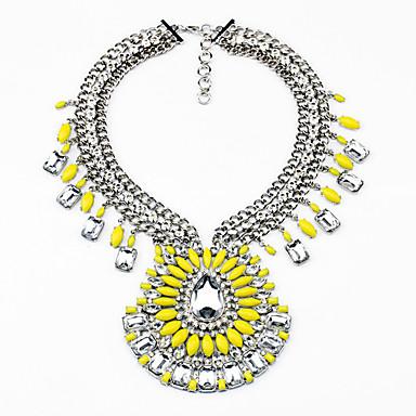 Kadın's Tellerinin Kolye Damla Kişiselleştirilmiş lüks mücevher Sarı Mücevher Için Düğün 1pc