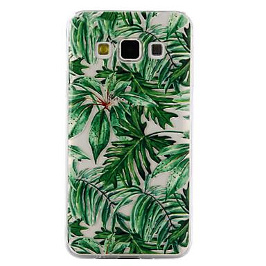 Недорогие Чехлы и кейсы для Galaxy A5-Кейс для Назначение SSamsung Galaxy A3 (2017) / A5 (2017) / A5 Прозрачный / Рельефный / С узором Кейс на заднюю панель Цветы Мягкий ТПУ
